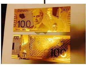 100-maple-gold-bill-banknote-24k-cool-shinny-casino-fake-game-novelty-money