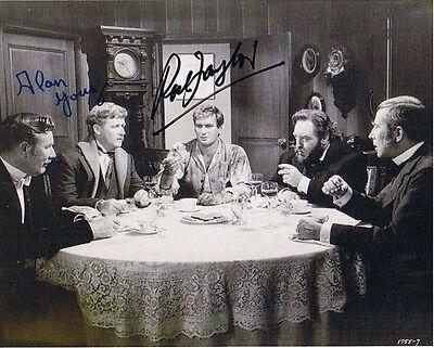 Alan Young und Rod Taylor Szene Die Zeitmaschine original signiert Autogramm rar