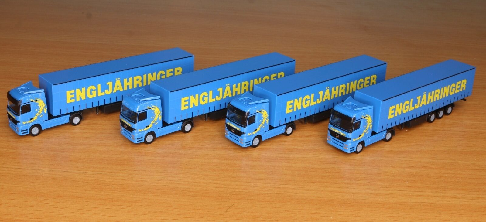 Herpa 066150, Piste N, camions-Paquet Transporteur engljähringer, 4 pièces