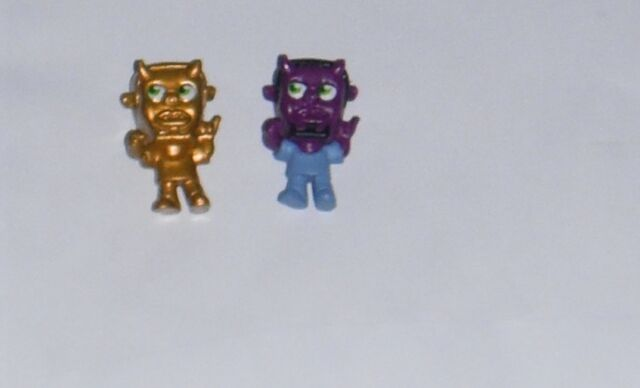 MOSHI MONSTERS MOSHLING FIGURES SERIES 3  49 PENCE X 2  GOLD AND NORMAL