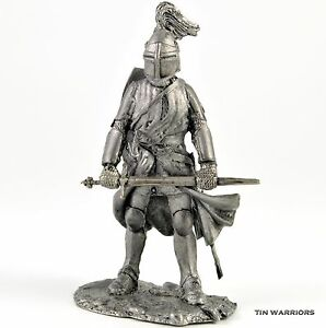 Tin toy soldiers shop Knight Middle ages metal miniature sculpture Toy soldier Collection 54mm 132 miniature figurine