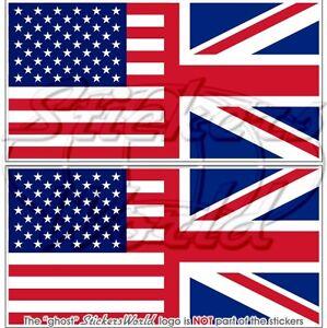 USA-United-States-America-amp-UK-Flag-Bumper-Stickers-Decals-75mm-3-034-x2
