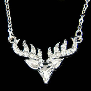 16398db73 ELK Antlers Deer made with Swarovski Crystal Bull Hunt Hunting Horns ...