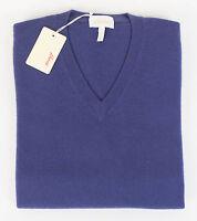 Brioni Men's Purple Cashmere V-neck Knit Sweater Size 48/38/s $1885 on sale
