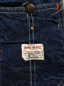 b8edf66d VINTAGE PENNEY'S BIG MAC 1950's 1960's SANFORIZED DENIM UNION MADE ...