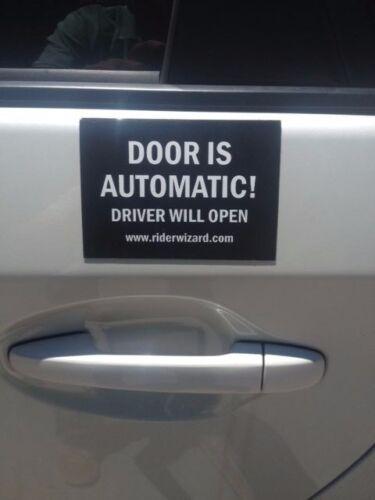 Rideshare Uber Lyft accessories car magnet Gett Juno Sticker Sign