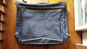 Oleg-Cassini-Suit-Dress-Garment-Travel-Bag-Luggage-Wardrobe-Bag-Blue-Vinyl-40-In
