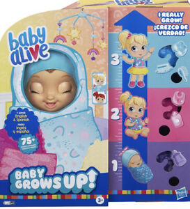 BABY ALIVE BABY GROWS UP BLOND DOLL  HAPPY HOPE OR MERRY MEADOW? NEW!