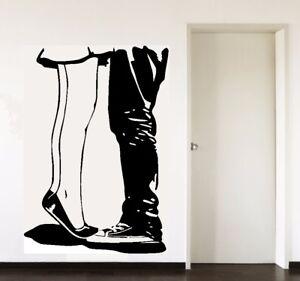 Beine hinter Vorhang Wandtattoo Wallpaper Wand Schmuck 57 x  81 cm Wandbild