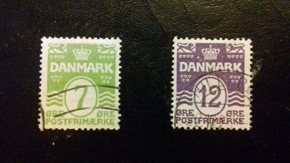 Danmark, stemplet, Bølgelinie suppleringsværdier 1926