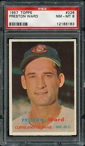1957-Topps-BB-Card-226-Preston-Ward-Cleveland-Indians-PSA-NM-MT-8