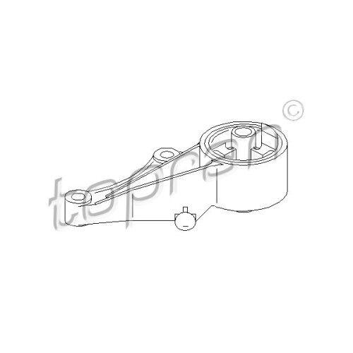 Original topran moteur stock stockage support moteur avant OPEL