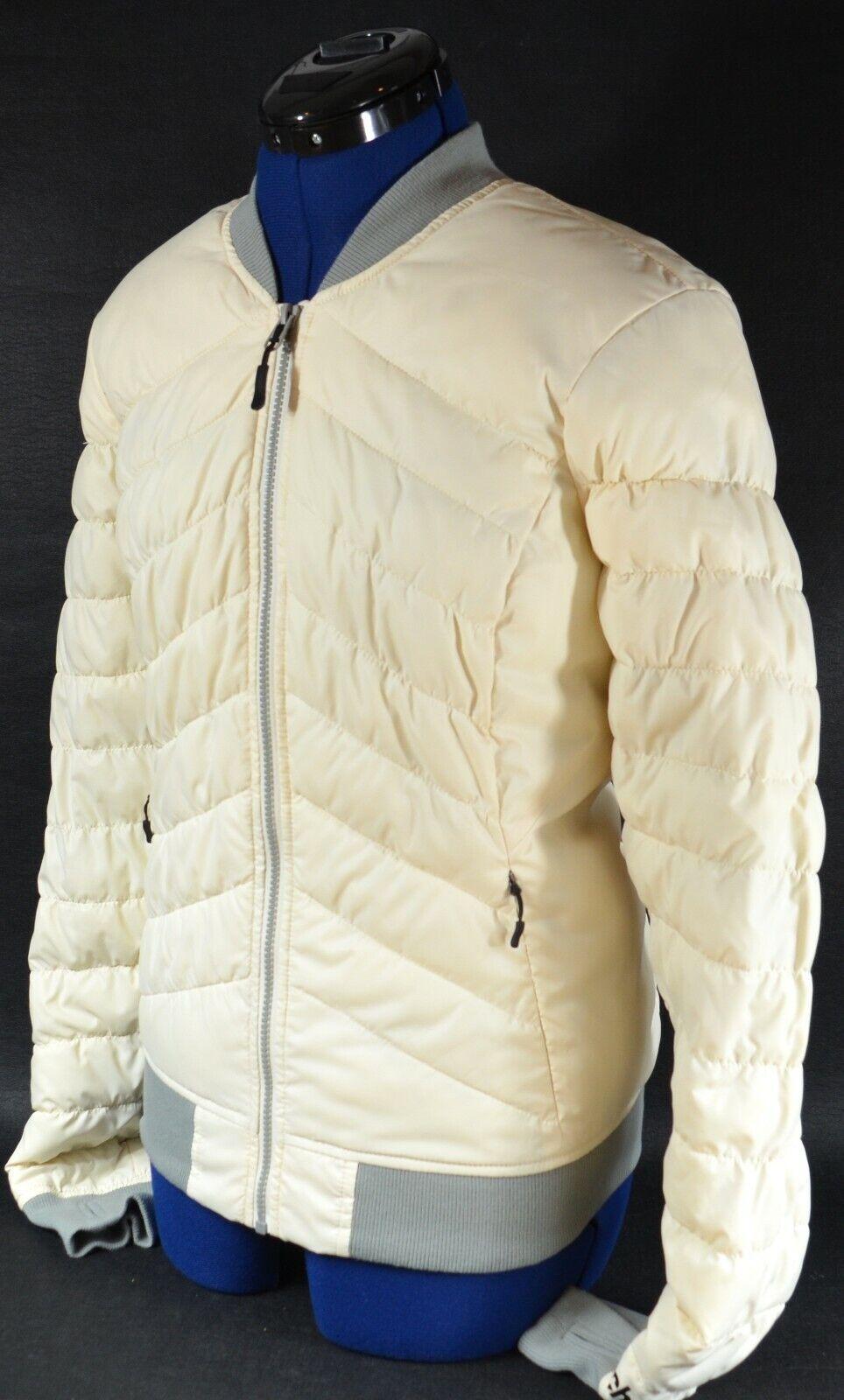 BENCH. Women's Durable Water Repellent Lightweight Bomber Jacket (Cream) Small