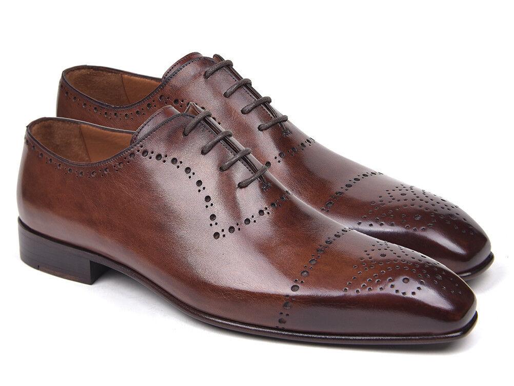 Paul Parkman Marroneee Classic Brogues Handmade scarpe