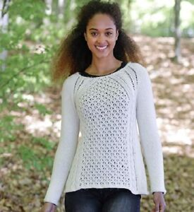 18cdeafea1ba1 LADIES JUMPER CABLES LACE RAGLAN SLEEVES~DK 8 PLY KNITTING PATTERN ...
