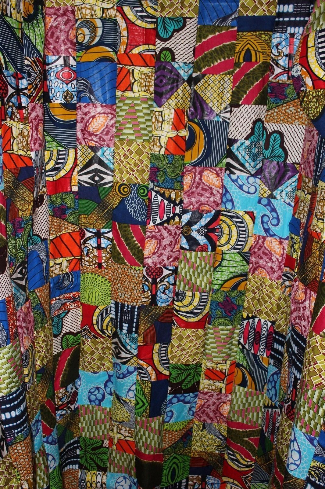 African Print Fabric Patchwork Shower Curtain 99bfe9