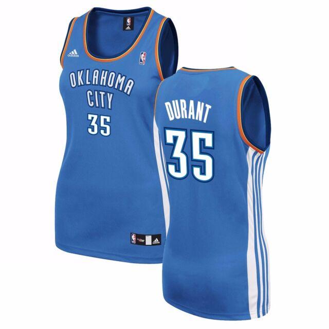 00adefacb2b2 Kevin Durant ADIDAS Oklahoma City Thunder Official Blue Replica Jersey  Women s