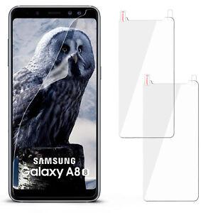 HD-Protecteur-D-039-Ecran-pour-Samsung-Galaxy-A8-2018-Film-Neuf-Transparent-D-039-Ecran