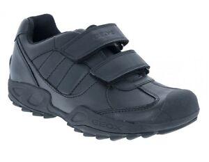 School Shoes Geox J Savage G Boys Black Trainers 100/% Positive Reviews