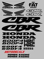 Decal Stickers Graphics Kit For Honda Cbr600f4 Cbr 600 F4 Fairing Tank Emblems