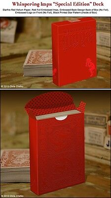 Magic Trick Illusion Whispering Imps Red Limited Edition Playing Cards By USPCC