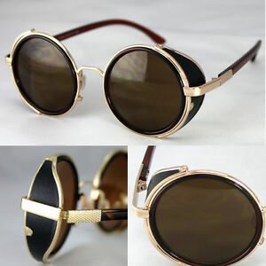 5126981198f Image is loading 50s-Round-Glasses-Steampunk-Sunglasses-Cyber-Goggles- Vintage-