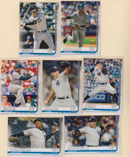 2019 TOPPS SERIES 1   Aaron Judge  Miguel Andujar  New York Yankees  7 CARD LOT