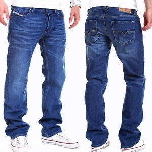 DIESEL Herren Jeans Hose Straight Fit LARKEE Blau verwaschen NEU
