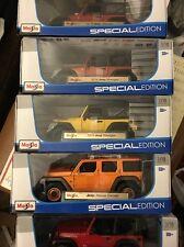 5X new Maisto 1:18 Scale Jeep Rescue Concept,WRANGLER RUBICON,2014 WRANGLER