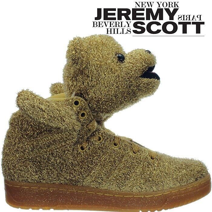 Adidas JS Bear Herrenschuhe mit Bärenkopf gold-glitter von Jeremy Scott NEU