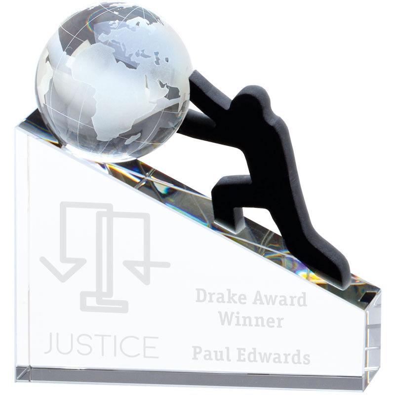 Business Award progressi CONQUISTA TROFEO di cristallo inciso GRATIS Premio Trofei