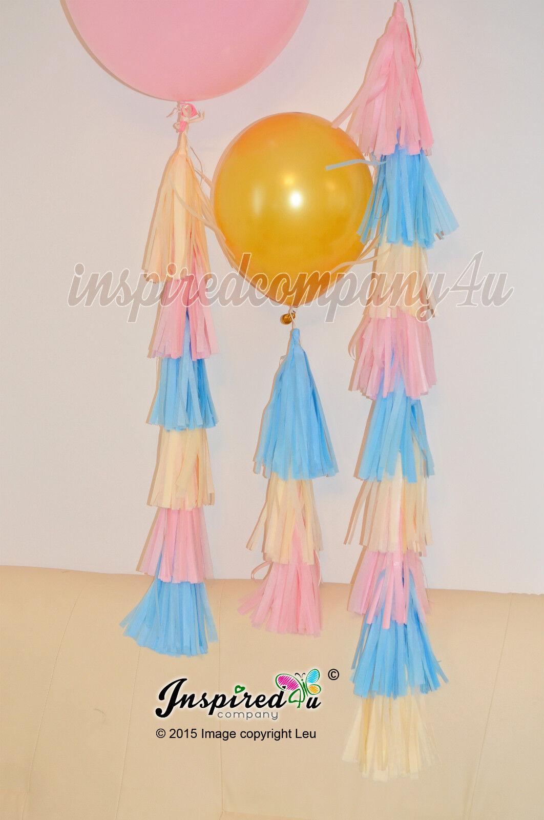 Trio 3 x rose ballon main tassel guirlande baby shower anniversaire fête de mariage 36