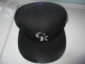 328fdb67155 NWOT Orig 90 s Solid COLORADO ROCKIES Fitted Hat Size 7 New Era 5950 ...