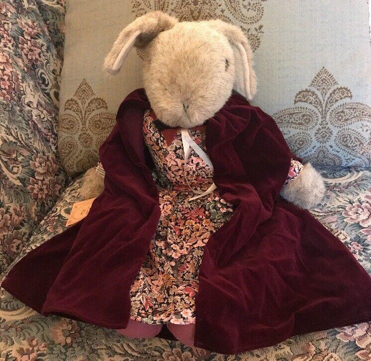 NWT Little Folk marrone Plush Bunny Rabbit Lapin England Tiverton Devon 1982 Rare