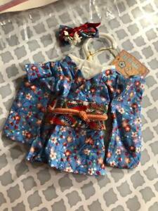 VTG-Muffy-Vanderbear-NEW-Kyoto-Blossoms-Blue-Japanese-Kimono-N-American-Bear-Co