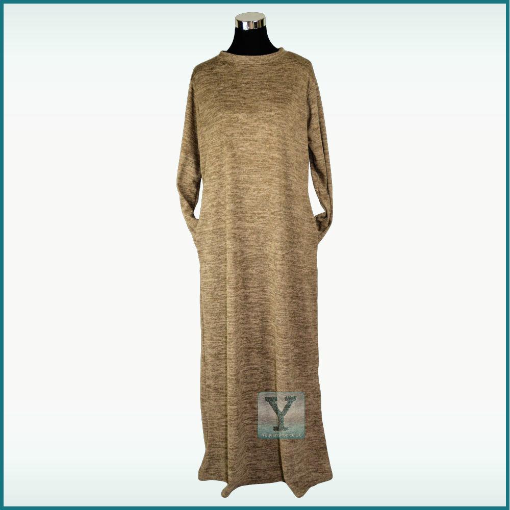 Winter Abaya L/ XL UK size 12/14/16 Jilbab Hijab Kaftan Maxi Dress