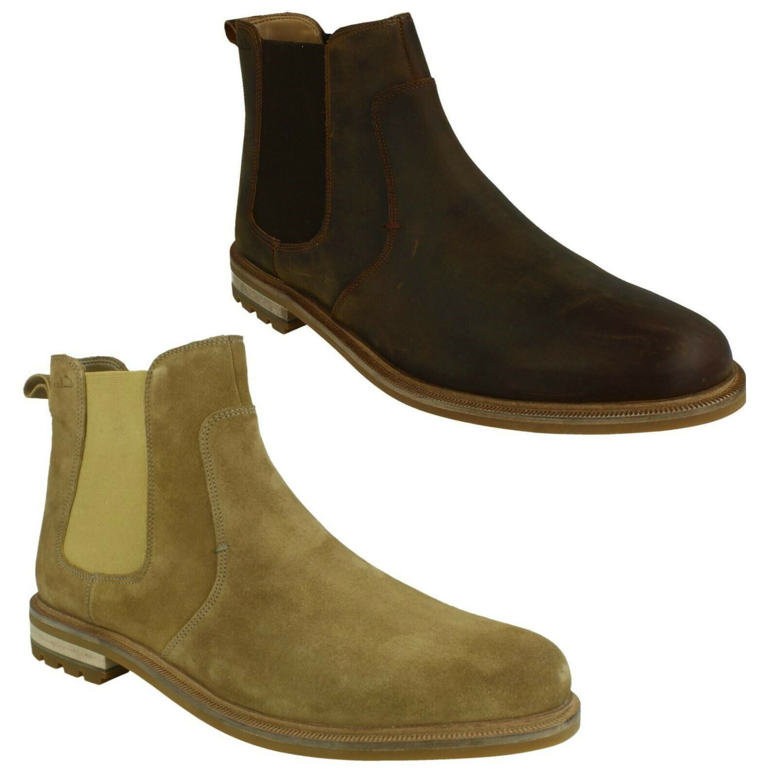 FOXWELL TOP MENS CLARKS LEATHER WINTER ANKLE CASUAL SMART CHELSEA BOOTS SIZE