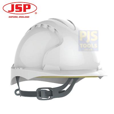 Blanc ventilé JSP AJF030-000-100 EVO2 Casque Sécurité Avec Slip à cliquet