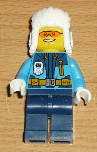 Lego City 1 Polarforscher mit Wollmütze blau