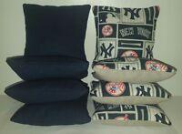 Set Of 8 All Weather York Yankees Cornhole Bean Bags Free Shipping