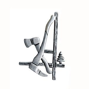 WohltäTig Pfanner Holzer Pin Silber Ansteck Nadel Logo Kleidung Bekleidung Fan Artikel Agrar, Forst & Kommune
