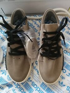 official photos 59ece e0650 Image is loading ALEXANDER-WANG-ADIDAS-COLL-SKATE-TRAINERS-SUEDE-SAND-