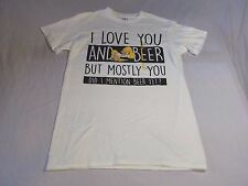 The Simpsons Homer Simpson I Love You And Beer But Mostly You T Shirt Size S-NWT