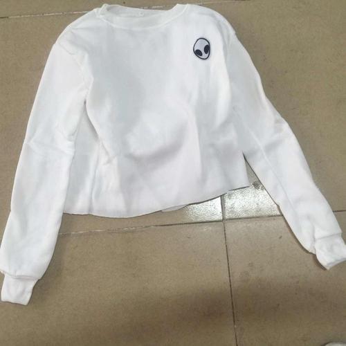 Womens Long Sleeve Hoodie Crop Tops Sweatshirt Casual Hooded Jumper Pullover Top
