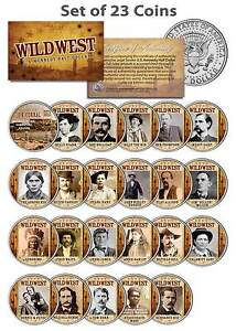 WILD-WEST-OLD-WEST-OUTLAWS-Complete-Set-of-23-U-S-Mint-JFK-Half-Dollar-Coins