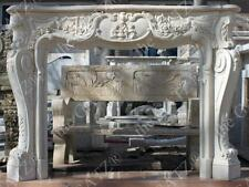 French Design Marble Fireplace Mantel and Surround