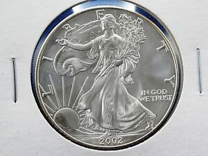 2002 American Silver Eagle Walking Liberty Coin 1oz 999
