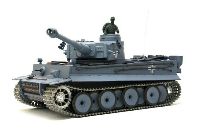"""RC Panzer """"German Tiger I"""" Heng Long 1:16 Mit Stahlgetriebe und Metallketten"""