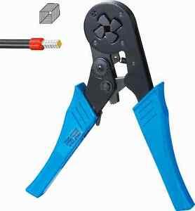 1Pcs HSC8 16-4 Self Adjusting Ratcheting Ferrule Crimper Plier 4-16 mm² AWG11-5