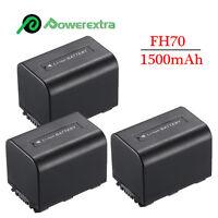 3 X Battery For Sony Handycam Np-fh70 Dcr-dvd108 Dcr-dvd910 Hdr-xr520v Dcr-sr200